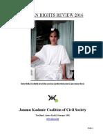 2016, Jammu & Kashmir Human Rights Review