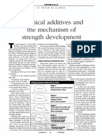 Chemical Additives and the Mechanism of Strength Development