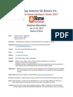 2017 home hardware race classic race notice