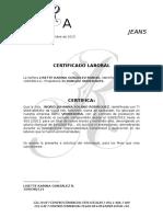 Certificado Laboral Rangoz