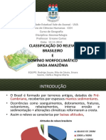 Classifição Do Relevo Brasileiro - Geomorfologia