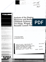 Analysis of the Staging Maneuver and Booster Glideback Guidance for a Two Stage, Winged, Fully Reusable Launch Vehicle