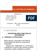 Psychological Factors in Learning