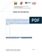 Datos de inscripcion