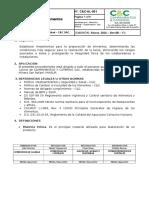 C&C-AL-001  - Preparación de Alimentos.doc