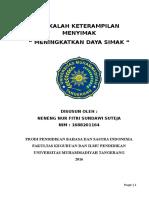 Menyimak Individu Neneng Nurfitri Sundawi Suteja