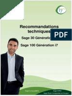 Recommandations Techniques Sage 100 Generation i7