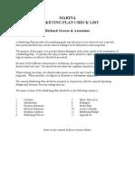 Marina Marketing Plan Check List