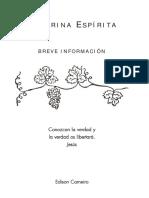 ESPIRITA Doctrina Espirita Breve Informacion