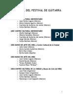 Historial Del Festival de Guitarra PDF