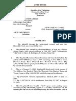 Roxas Civil Complaint
