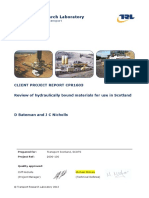 Review of Hydraulically Bound Materials for Use in Scotland