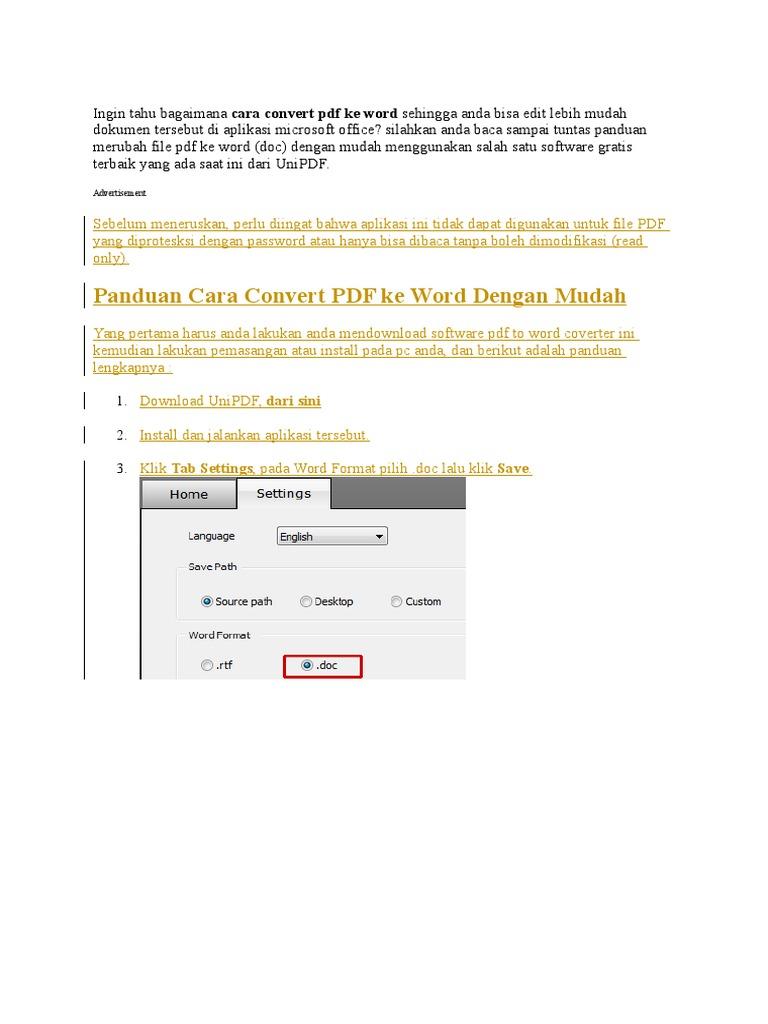 Ingin Tahu Bagaimana Cara Convert Pdf Ke Word Sehingga Anda Bisa Edit Lebih Mudah Dokumen Tersebut Di Aplikasi Microsoft Office