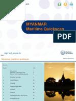 Myanmar Maritime Quickscan Report March 2016
