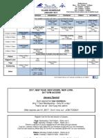 Jan 2017 Class Schedule