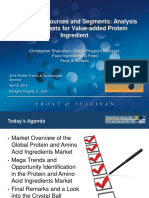 Christopher Shanahan Frost Sullivan 2014 Protein Trends Technologies