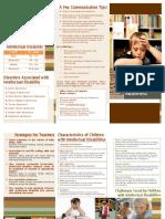 intellectual disability brochure