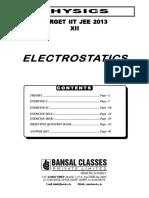 Electrostatics (12th) (E) WA Final
