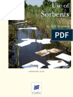 Use of sorbents for cleaning oil spills