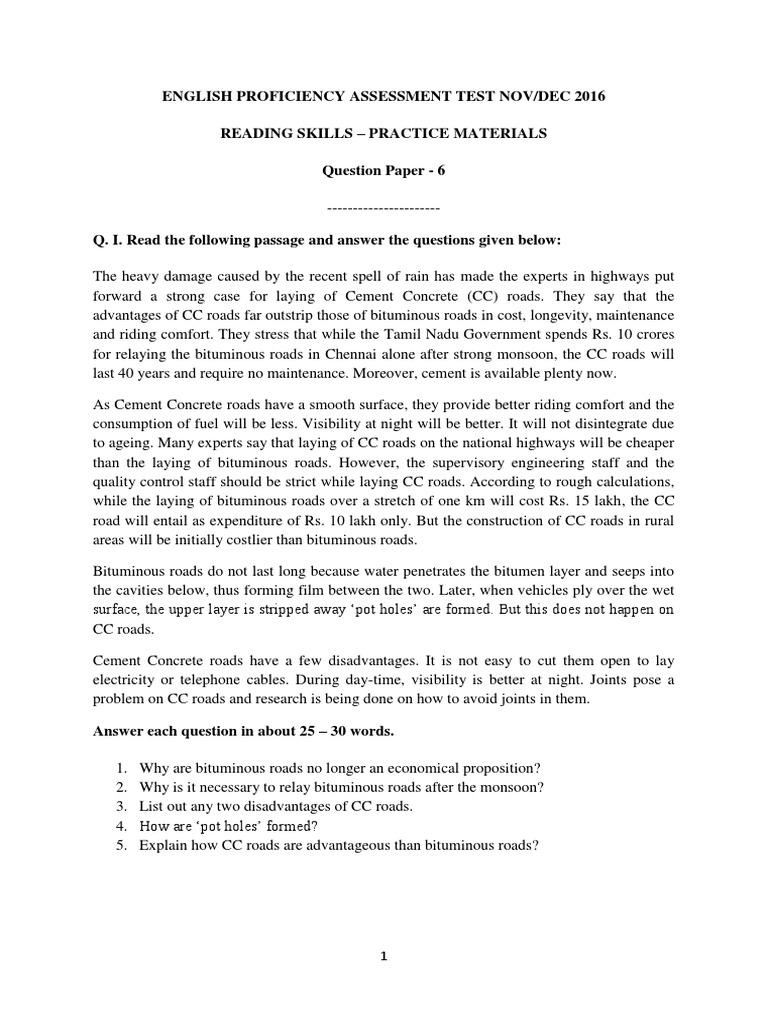 Reading Skills QP6 pdf | Tsunami | Fukushima Daiichi Nuclear Power Plant