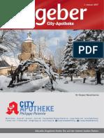 Ratgeber aus Ihrer City-Apotheke – Januar 2017