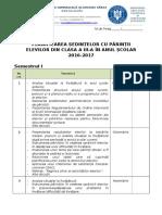 Planif Sedintelor Cu Parintii 2016-2017