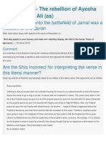 The Rebellion of Ayesha Against Imam Ali (as)