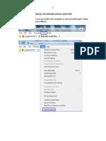 Manual for Digital Sig