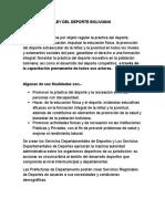 Ley Del Deporte Boliviano
