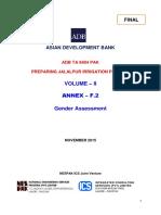 TA 8404 PAK F6.2 Draft Gender Assessment 15 Nov