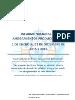 AHOGAMIENTOS infografia datos 2016 comparados con 2015