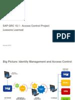 2015 - Jan Meeting - SAP GRC Access Control Framework - Sangram Dash