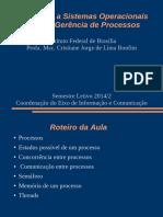 Aula2-Sistemas Operacionais - Gerencia de Processos