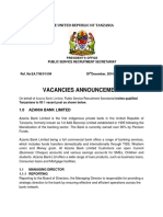 Azania Bank Vacancy
