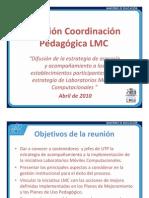 Presentación Reunión Coordinanción Pedagógica de Laboratorio Móvil Computacional