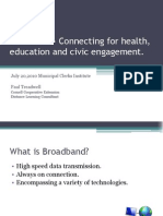 Broadband Civic Engagement and Sustainability