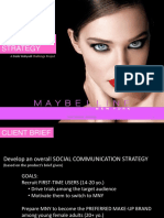 Maybelline - Social Media Plan