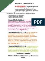 NUMERICAL LANGUAGE (1).doc