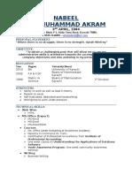 Nabeel Akram CV - 2017 Jan