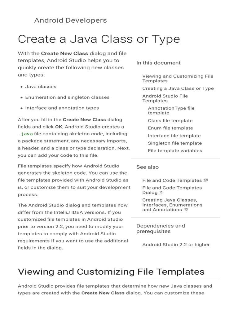 3 Create A Java Class Or Type Java Programming Language Class