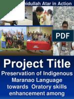 Sample advocacy community service Project Plan Proposal