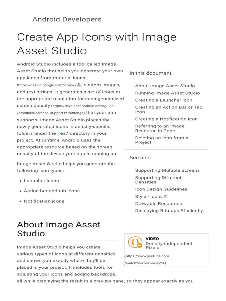 9  Create App Icons With Image Asset Studio | Icon