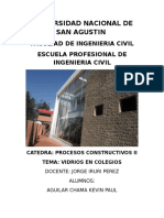 Vidrio en Edificaciones Educativas Perunanas