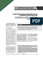 Metodología de Análisis de Las Barreras Burocráticas - Autor José María Pacori Cari