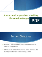 Stabilisation of the Deteriorating Patient