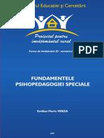 Fundamentele Psihopedagogiei Speciale