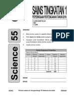 Set Soalan Ppt Sains Tingkatan 1 2016