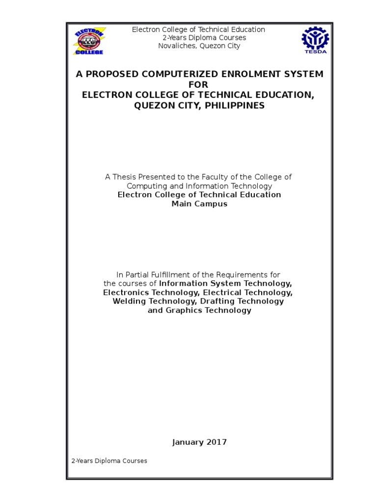 computerized enrollment system thesis documentation