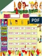 Jadual Bertugas Cempaka 2017