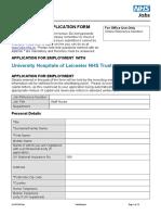Standard Application Form